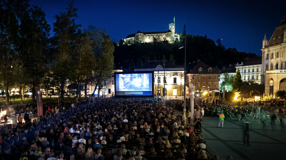 Open-air cinema at Congress Square