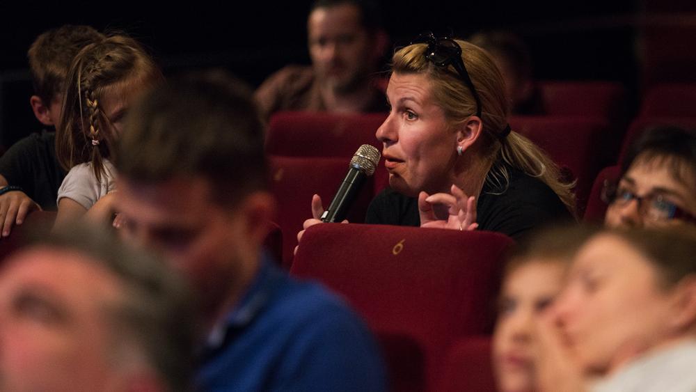 Na predpremieri Jamskega človeka je bila z nami animatorka studia Aardman