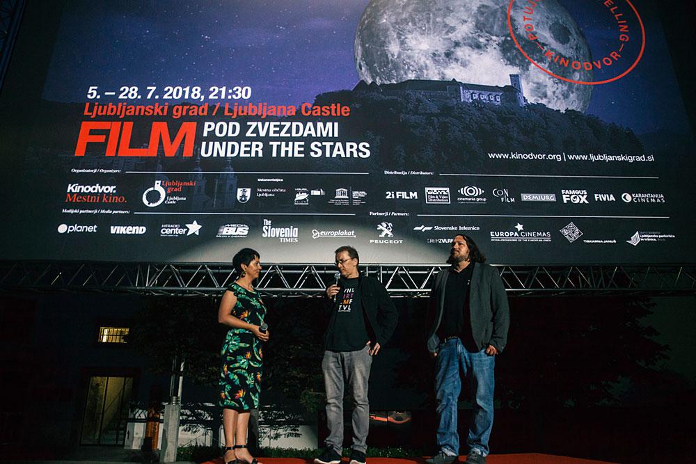 Utrinki z otvoritve Filma pod zvezdami