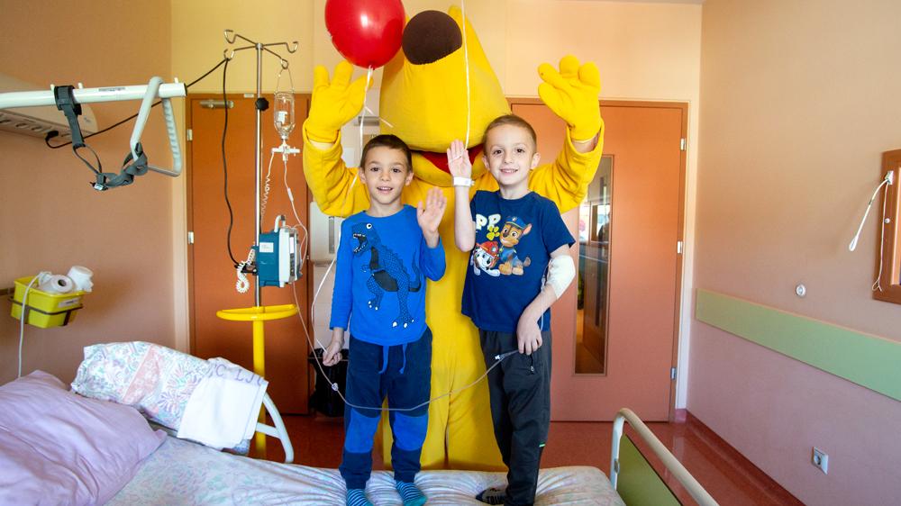 Kinobalon na obisku v Pediatrični kliniki