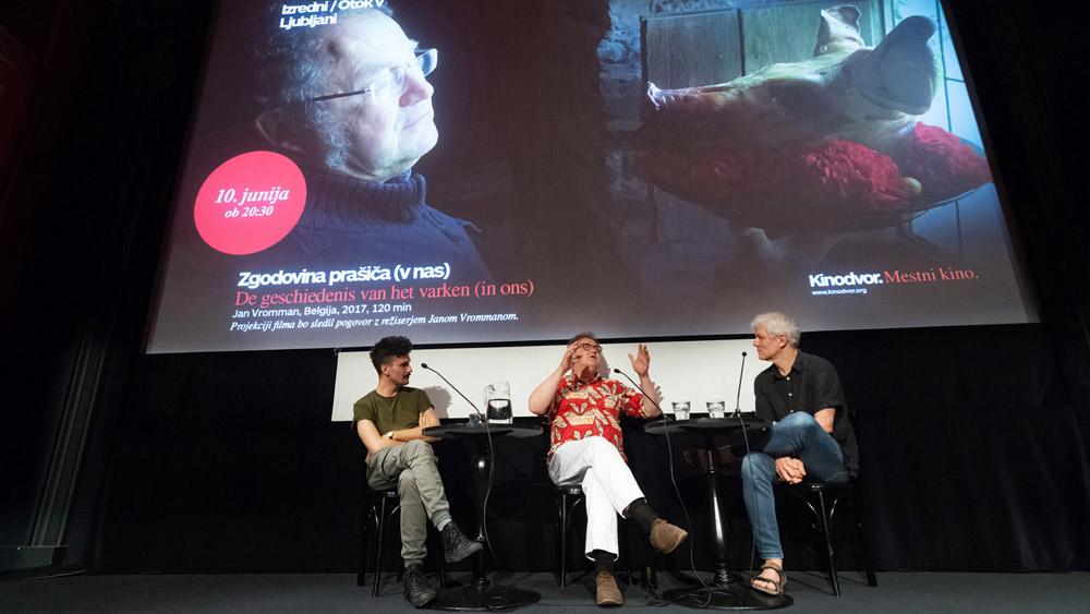 Foto utrinki s premiere filma Zgodovina prašiča (v nas)